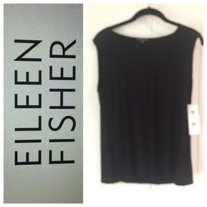 New! Eileen Fisher Top Size M Black